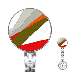 Decorative abstraction Stainless Steel Nurses Watch