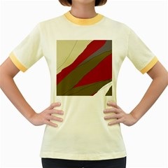 Decoratve abstraction Women s Fitted Ringer T-Shirts