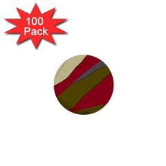 Decoratve abstraction 1  Mini Buttons (100 pack)