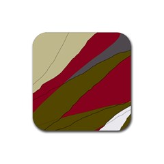 Decoratve abstraction Rubber Square Coaster (4 pack)