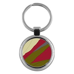 Decoratve abstraction Key Chains (Round)