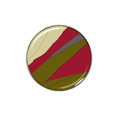 Decoratve Abstraction Hat Clip Ball Marker (4 Pack)