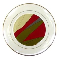 Decoratve abstraction Porcelain Plates