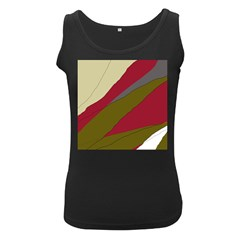 Decoratve abstraction Women s Black Tank Top