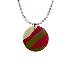 Decoratve abstraction Button Necklaces