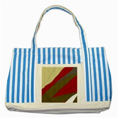 Decoratve abstraction Striped Blue Tote Bag