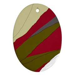 Decoratve abstraction Oval Ornament (Two Sides)