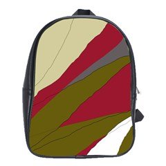 Decoratve abstraction School Bags(Large)