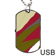 Decoratve abstraction Dog Tag USB Flash (One Side)