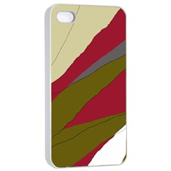 Decoratve abstraction Apple iPhone 4/4s Seamless Case (White)