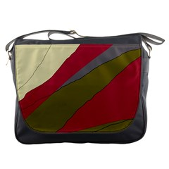 Decoratve abstraction Messenger Bags