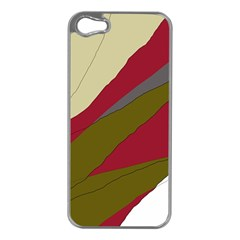 Decoratve abstraction Apple iPhone 5 Case (Silver)