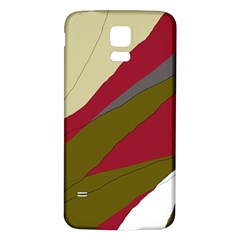 Decoratve abstraction Samsung Galaxy S5 Back Case (White)