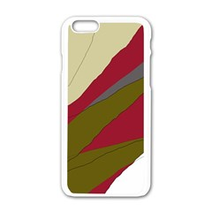 Decoratve abstraction Apple iPhone 6/6S White Enamel Case