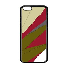 Decoratve abstraction Apple iPhone 6/6S Black Enamel Case