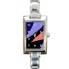 Purple and pink abstraction Rectangle Italian Charm Watch