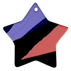 Purple and pink abstraction Ornament (Star)