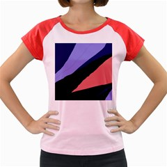 Purple and pink abstraction Women s Cap Sleeve T-Shirt
