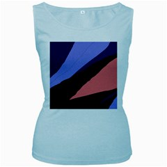 Purple and pink abstraction Women s Baby Blue Tank Top