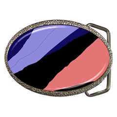 Purple and pink abstraction Belt Buckles