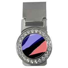 Purple and pink abstraction Money Clips (CZ)