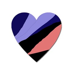Purple and pink abstraction Heart Magnet