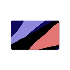 Purple and pink abstraction Magnet (Name Card)