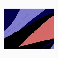 Purple and pink abstraction Small Glasses Cloth