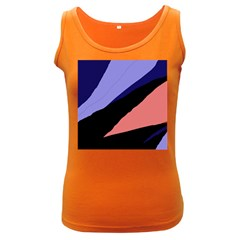 Purple and pink abstraction Women s Dark Tank Top