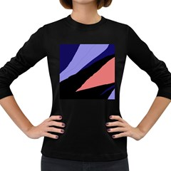 Purple and pink abstraction Women s Long Sleeve Dark T-Shirts