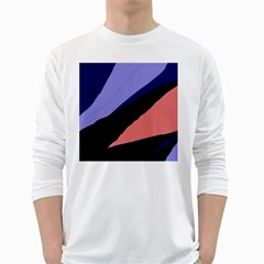Purple and pink abstraction White Long Sleeve T-Shirts