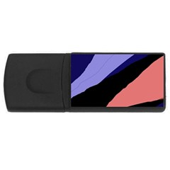 Purple and pink abstraction USB Flash Drive Rectangular (4 GB)