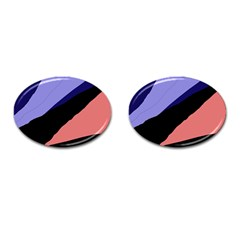 Purple and pink abstraction Cufflinks (Oval)