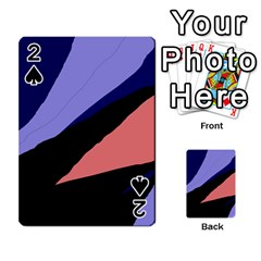Purple and pink abstraction Playing Cards 54 Designs