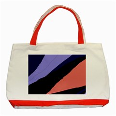 Purple and pink abstraction Classic Tote Bag (Red)