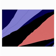 Purple and pink abstraction Large Glasses Cloth