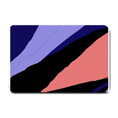Purple and pink abstraction Small Doormat