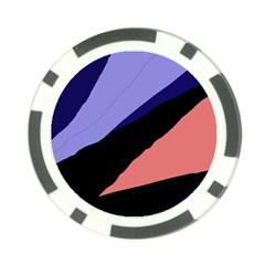 Purple and pink abstraction Poker Chip Card Guards