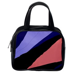 Purple and pink abstraction Classic Handbags (One Side)