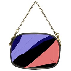 Purple and pink abstraction Chain Purses (Two Sides)