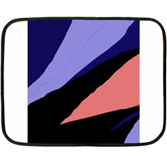 Purple and pink abstraction Double Sided Fleece Blanket (Mini)