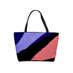 Purple and pink abstraction Shoulder Handbags