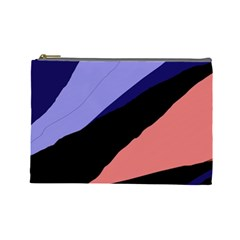 Purple and pink abstraction Cosmetic Bag (Large)