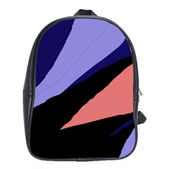 Purple and pink abstraction School Bags(Large)
