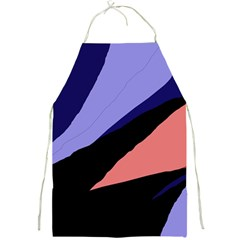 Purple and pink abstraction Full Print Aprons