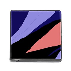 Purple and pink abstraction Memory Card Reader (Square)