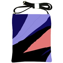 Purple and pink abstraction Shoulder Sling Bags