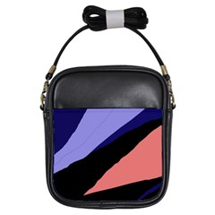 Purple and pink abstraction Girls Sling Bags