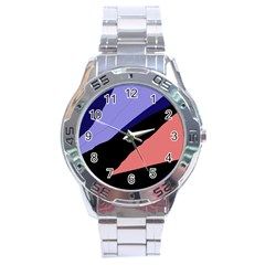 Purple and pink abstraction Stainless Steel Analogue Watch