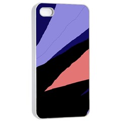 Purple and pink abstraction Apple iPhone 4/4s Seamless Case (White)